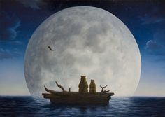 robert bissell artist   moonlighters giclee on canvas 15 x 21 30 x 42 40 x 56 at certain times ...