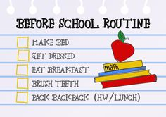 Keep your kids on task every morning! Hang this free printable Before School Routine Checklist on the fridge, in the bathroom or mudroom!