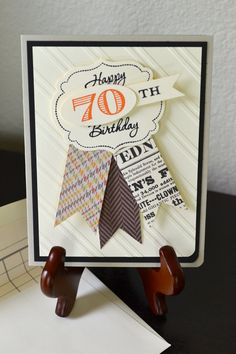 70th Birthday Card different numbercustom by TheRoundedCorner, $5.00