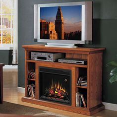 Beverly 23 in. Electric Fireplace Entertainment Center in Premium Oak - 23MM374-O107