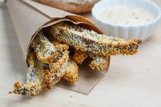 Crispy Baked Portobello Mushroom Fries - made these Saturday night. they were great. definitely have to use the baking rack on top of a cookie sheet