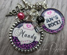 Nurse RN Personalized gift PERSONALIZED keychain by SilverRapture, $20.00