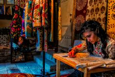 At the suzani workshop Tashkent