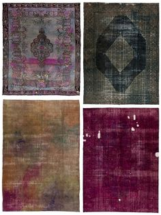 Page Thirteen: + loving: Over-dyed Vintage Rugs
