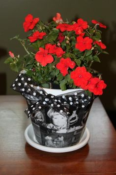 Looking for a unique and personalized gift for your mother? Why not give her flowers in a handmade flower pot?