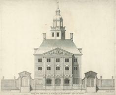 Voorgevel van Swanenburg, gemeenlandshuis van Rijnland, Jan Matthysz., 1654