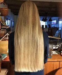 Got s cut. A simple trim Long Blunt Hair, Long Dark Hair, Very Long Hair, Long Hair Cuts, Long Hair Styles, Long Blond, Straight Hair, One Length Hair, Waist Length Hair