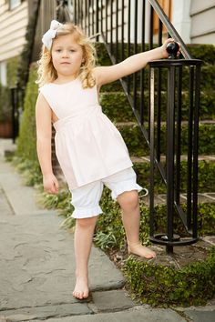 Adorable floral Play Top with Pantaloon's!  Use the bottoms to pair with other dresses that are now too short!