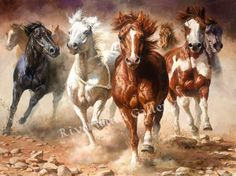 "Bonnie Marris-The Power of Freedom- LIMITED EDITION Giclee CANVAS Image size: 24""w x 18""h.  Edition Size: 75"