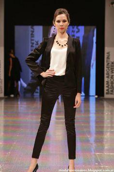 Adriana Costantini otoño invierno 2014 trajes de mujer moda invierno 2014
