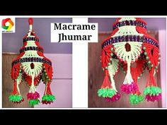 Macrame Jhumar new design tutorial K Crafts, Vinyl Crafts, Easy Diy Crafts, Bead Crafts, Summer Arts And Crafts, Crafts For Teens To Make, Spring Crafts, Macrame Toran, Macrame Art