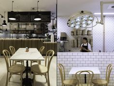 Строгий промышленный дизайн в интерьере пекарни Autolyse