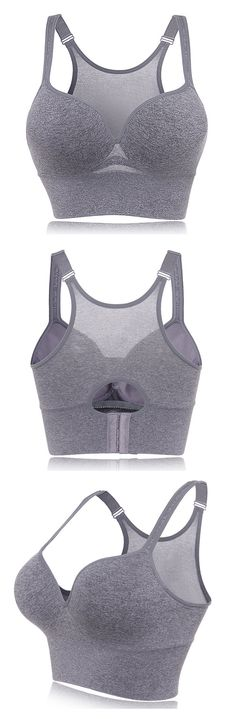 US$9.94 Sexy Shockproof Seamfree Breathable Wireless Gather Yoga Sports Bras