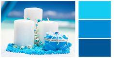 Голубые и бирюзовые тона для оформления свадьбы в Доминикане.