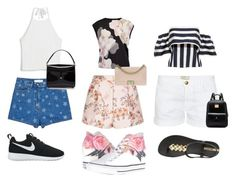 """""""Brother Challenge / Summer"""" by sacha15 on Polyvore featuring STELLA McCARTNEY, Valentino, Current/Elliott, Ted Baker, Monki, IPANEMA, NIKE, Converse, Chanel and Marc Jacobs"""