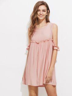Shop Open Shoulder Frill Trim Dress online. SheIn offers Open Shoulder Frill Trim Dress & more to fit your fashionable needs.