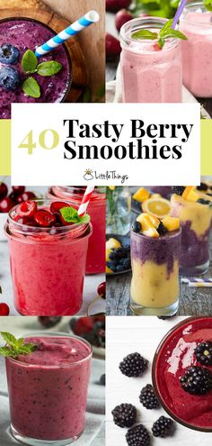 40 Tasty berry smoothies to kickstart your health journey: All these smoothies contain healthy berries and they'll all help you in your quest to get healthy fast.