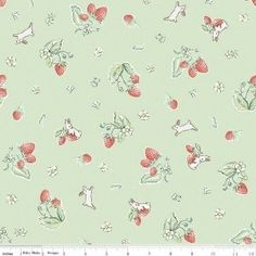 """Strawberry Mint""-Bunnies & Cream by Lauren Nash for Penny Rose Fabrics"