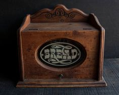 Vintage Wooden Bread Box by TheVintageParlor on Etsy, $38.00