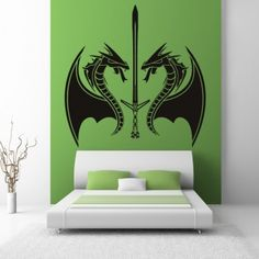 Dragons Sword Wall Art Sticker Wall Decal - Mythical Creatures - Fantasy