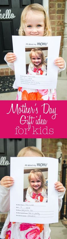 Last Minute Mother's Day gift idea for kids. Especially preschool and church classes. Free printable included! Mom will love this.