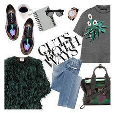"""""""cuts both ways"""" by punnky ❤ liked on Polyvore featuring 3.1 Phillip Lim, Dr. Martens, Erdem, Marni, Salsa, Paperchase, Illesteva, Invicta, women's clothing and women's fashion"""