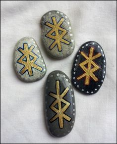 Bind Rune Sea Stone Charm & Pouch. Pocket PROTECTION Amulet Talisman Runes - Pinned by The Mystic's Emporium on Etsy