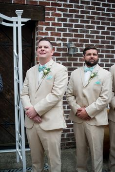 Powder Blue and Burgundy Fall Winery Wedding | Groom waiting for the bride