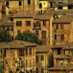 Houses in SIena, Italy