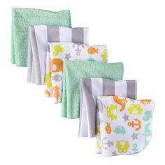 I love these!!  Circo® Infant 6 Pack Washcloth Set - Grey/Green