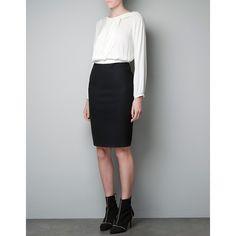Zara Two-Tone Dress ($80) found on Polyvore