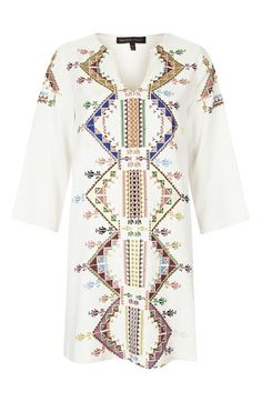 Kate Moss for Topshop Embroidered Smock Dress | Nordstrom