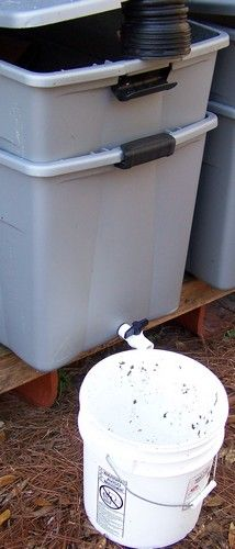 Worm composting - love my worm factory 360 although this set up would have been cheaper probably.