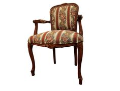 Shipping is not included. Contact us for more info and more pictures.  French Country Ladies Fauteuil Carved Open Arm Chair  Offered is a nice French Country Ladies Fauteuil Carved Open Arm Chair.  The chair shows some wear (surface scratches/nicks, minor chipping on one leg, upholstery in great co