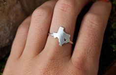 Any State Love Ring by DreamingTreeCreation on Etsy, $65.00 I want a tennessee ring! :)