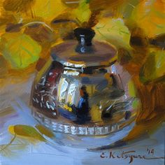"Daily Paintworks - ""September Silver"" - Original Fine Art for Sale - © Elena Katsyura"