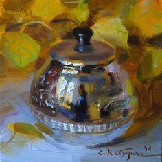 "Daily Paintworks - ""September Silver"" - Original Fine Art for Sale - © Elena Katsyura"