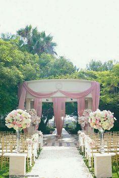 Muted pink, ivory color schemed wedding! Elegant Spring or Summer