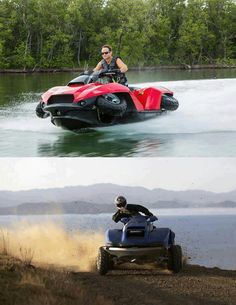 Is call Quadski, and it can reach 45mph both in water and land