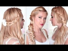 Fun Back To School Hairstyles For Medium Long Hair Everyday - Girl hairstyle video 2015