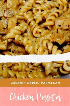 Garlic Parmesan Chicken Pasta Recipes - Chicken Recipes - Cheesy Chicken and Pasta, Fajita Chicken Pasta, Chicken Tortalini Pasta, Chicken Casseroles Pasta, C - Pasta Recipes For Babies, Pasta Recipes Indian, Easy Healthy Pasta Recipes, Creamy Pasta Recipes, Vegetarian Pasta Recipes, Healthy Chicken Pasta, Pasta Dinner Recipes, Garlic Chicken Recipes, Yummy Pasta Recipes