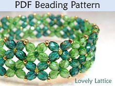 Flower Bracelet Beading Pattern