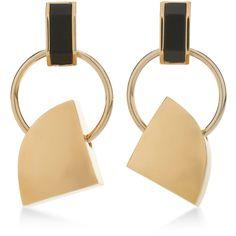 Marni Old Gold Metal Earrings (32.350 RUB) ❤ liked on Polyvore featuring jewelry, earrings, gold, marni earrings, marni jewelry, marni and earrings jewelry