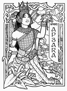 Apsara - Several Buddhist Goddesses governing various aspects of the Natural World   © 2010 Renée Christine Yates-McElwee