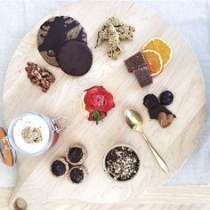 Dessert Snack Presentation with Simple & Crisp Orange with Chocolate