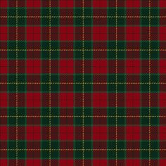 ~+~+~ Christmas Tartan ~+~+~  This tartan was created to commemorate the Christian celebration of the birth of Jesus Christ.  It is inspired by the spirit of Christmas with the colours green representing Frankincense; red representing Myrrh and yellow representing gold, all symbolic of the three Kings in the nativity story.