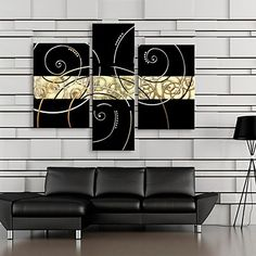 Stretched Canvas Art Gorgeous Lines And Patterns Set of 3 - USD $ 69.99
