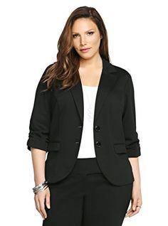 Ruched Sleeve Ponte Blazer ** Click on the image for additional details.