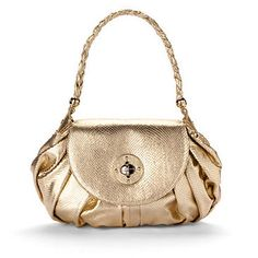 gold prom purse
