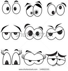 Eyes Set stock vector (royalty free) 146622101 – Graffiti World Cartoon Faces, Cartoon Drawings, Easy Drawings, Vexx Art, Weird Shapes, Stone Painting, Rock Art, Doodle Art, Craft Ideas
